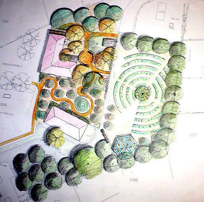 תכנית אדריכלית לגינה קהילתית (צילום: גליה חנוך רועה) (צילום: גליה חנוך רועה)