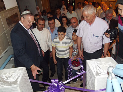 Minister Hershkowitz at space center opening (Photo:Hassan Shaalan) (Photo: Hassan Shaalan)