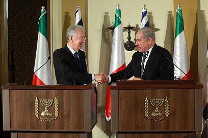 ראש ממשלת איטליה המתפטר עם בנימין נתניהו (צילום:  מרק ישראל סלם) (צילום:  מרק ישראל סלם)