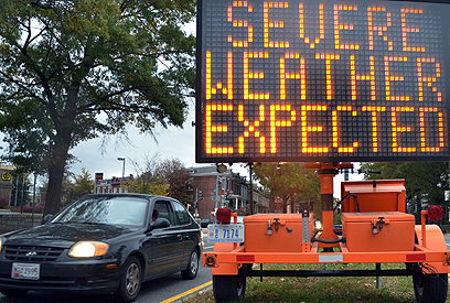 אזהרה מפני מזג האוויר הקשה, מנהטן (צילום: AFP) (צילום: AFP)
