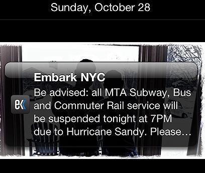 הודעה על שיתוק התחבורה הציבורית בניו יורק (צילום: אוּרי כץ) (צילום: אוּרי כץ)