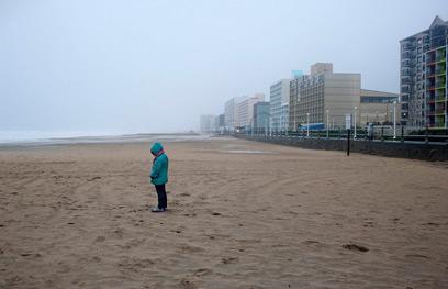 החוף בווירג'יניה. השקט שלפני (צילום: רויטרס) (צילום: רויטרס)