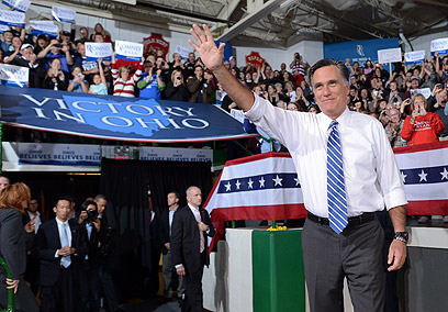גם הוא ביטל כמה כנסי בחירות. רומני בסלינה, אוהיו (צילום: AFP) (צילום: AFP)