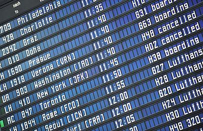 אלפי טיסות בוטלו (צילום: EPA) (צילום: EPA)