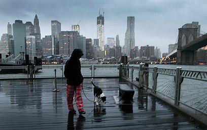 השקט שלפני הסערה. ברוקלין על רקע מנהטן (צילום: AP) (צילום: AP)