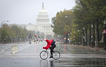 וושינגטון לפני הסערה (צילום: AFP) (צילום: AFP)