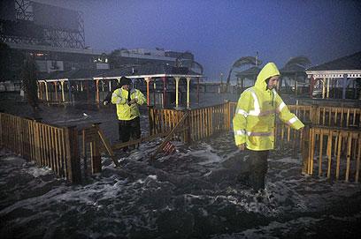 גובה המים ממשיך לעלות. ניו ג'רזי (צילום: AFP) (צילום: AFP)