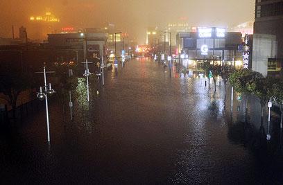 אטלנטיק סיטי, זמן קצר לאחר שהסופה פגעה ביבשה (צילום: AFP) (צילום: AFP)