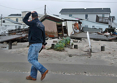 Hurricane damage in Queens (Photo: Reuters)