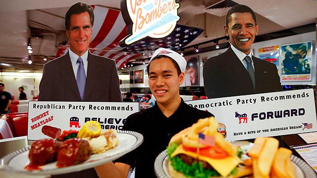 מסעדה בסינגפור לפני הבחירות ב-2012 (צילום: EPA)