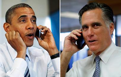 נערכו מראש לקרב ראש בראש. אובמה ורומני מצלצלים לפעילים (צילום: רויטרס) (צילום: רויטרס)