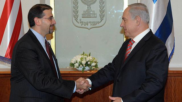 Shapiro and Netanyahu (Photo: Amos Ben Gershom/GPO)
