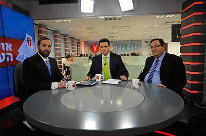 העימות באולפן ynet (צילום: בני דויטש) (צילום: בני דויטש)