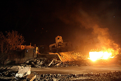 רצועת עזה, אמש (צילום: EPA) (צילום: EPA)