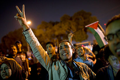 Anti-Israel protests in Egypt (Photo: AP)