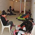 באר שבעים במקלט (ארכיון) צילום: הרצל יוסף