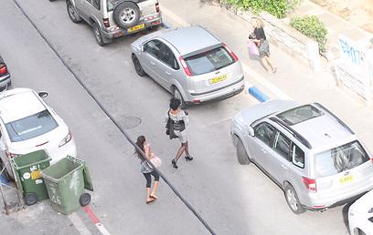 אזעקה ברחובות העיר (צילום: מוטי קמחי) (צילום: מוטי קמחי)