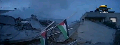 Destroyed Hamas gov't building (Photo: Reuters)