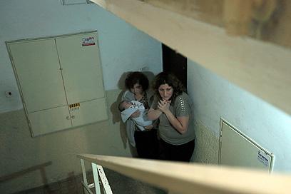 פחד באשקלון  (צילום: AP) (צילום: AP)