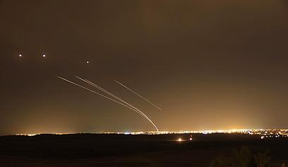 Iron Dome intercepts rockets from Gaza (Archive Photo: Dor Kafri) (Photo: Dor Kafri)