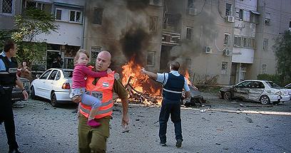 באר שבע תחת מתקפה (צילום: דני ששון)