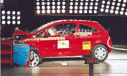 אבזור הבטיחות בדגם הנמכר בישראל - נמוך מזה שנבחן על-ידי Euro NCAP ()