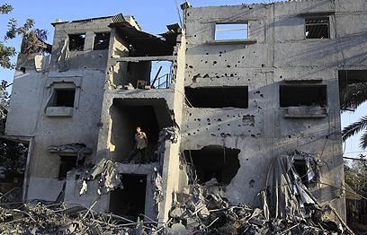 הריסות בעזה. אפקט רק עוד שבועיים-שלושה (צילום: AFP) (צילום: AFP)
