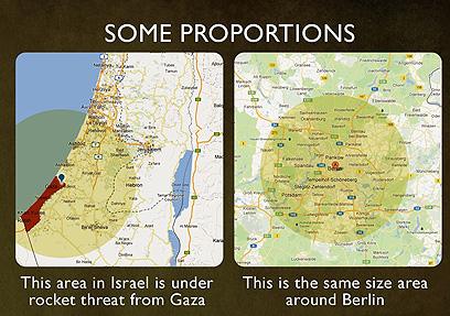 """""""קצת פרופורציות"""" - המפות שפרסמה השגרירות ()"""