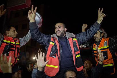עזה יצאה לרחובות  (צילום: AFP) (צילום: AFP)