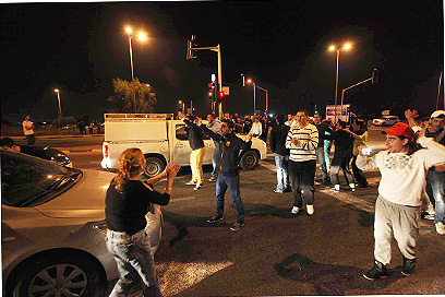 """ההפגנה בשדרות. ראש העיר: """"לא חש גאווה"""" (צילום: גיל יוחנן) (צילום: גיל יוחנן)"""