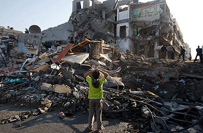 Gaza building after IDF strike (Archive photo: AP)