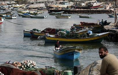 דייגים ברצועת עזה, היום (צילום: AFP) (צילום: AFP)