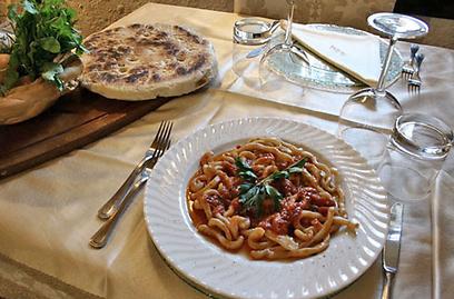 אין כמו האוכל האיטלקי. מנה מסורתית באומבריה (צילום: דלית קצנלנבוגן) (צילום: דלית קצנלנבוגן)