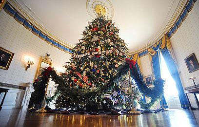 עץ חג המולד הרשמי בבית הלבן (צילום: MCT) (צילום: MCT)