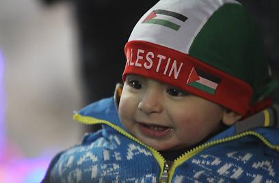 ילד פלסטיני בפסטיבל ברמאללה (צילום: גיל יוחנן) (צילום: גיל יוחנן)