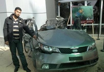 שרידי מכונית הקיה של ג'עברי ()
