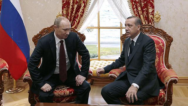 ארדואן ופוטין לפני המשבר בין המדינות (צילום: AFP) (צילום: AFP)