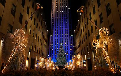 מרכז רוקפלר בניו יורק לבש חג (צילום: רויטרס) (צילום: רויטרס)