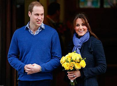 """""""חלה החרפה במצבה של הדוכסית"""". קייט מידלטון ובעלה הנסיך ויליאם (צילום: רויטרס)"""