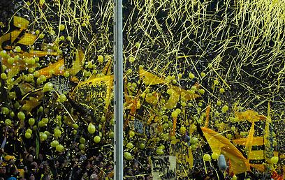 הבונדסליגה נהנית מהקהל הגדול ביותר. אוהדי דורטמונד (צילום: רויטרס) (צילום: רויטרס)