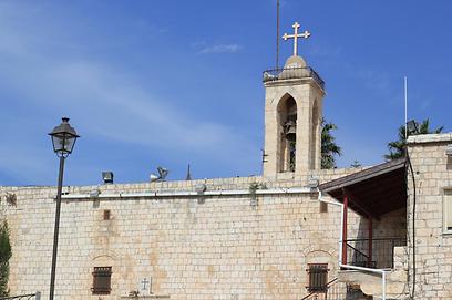 כל התושבים קתולים. כנסיית מריה הקדושה במעיליא (צילום: שחר גל-נור) (צילום: שחר גל-נור)