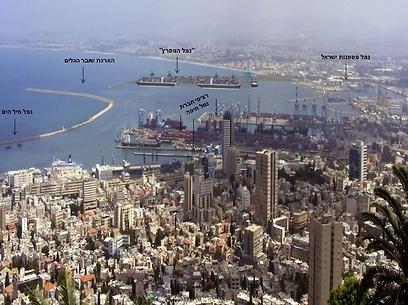 הדמיה של הרחבת נמל חיפה (צילום: הדמיה - חברת נמלי ישראל) (צילום: הדמיה - חברת נמלי ישראל)