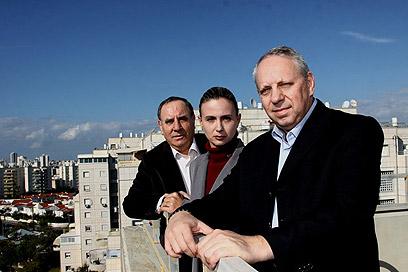 המובילים של הישראלים: קון, שורר ווקסלר (צילום: אבי מועלם) (צילום: אבי מועלם)