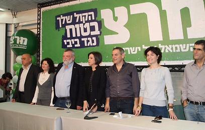 השקת קמפיין המפלגה, היום (צילום: מוטי קמחי) (צילום: מוטי קמחי)