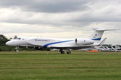 מטוס הגלפסטרים של טייסת נחשון (צילום: באדיבות התעשייה האווירית) (צילום: באדיבות התעשייה האווירית)