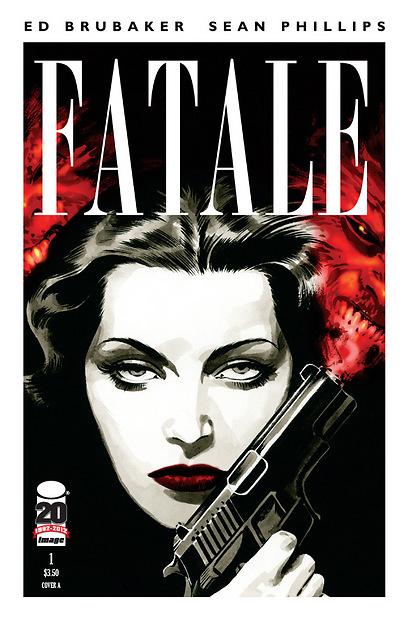"""הקומיקס """"Fatale"""". בסגנון הפילם-נואר (עטיפת הקומיקס) (עטיפת הקומיקס)"""