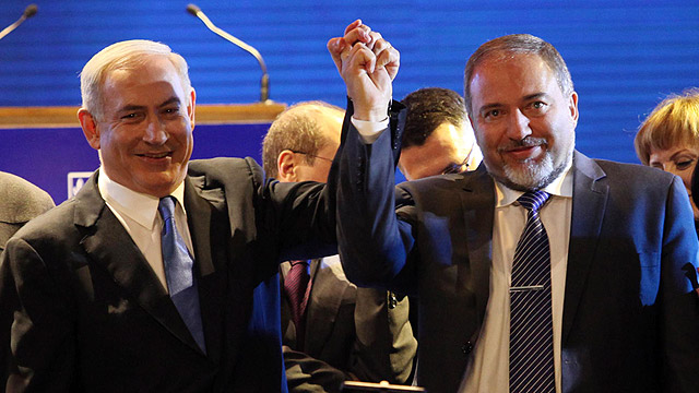 Prime Minister Benjamin Netanyahu and Foreign Minster Avigdor Liberman (Photo: Gil Yochanan)  (Photo: Gil Yochanan)