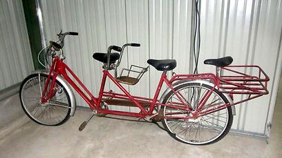 אופני טנדם משפחתיים (צילום: עזרא שהרבני, בייקפאנל) (צילום: עזרא שהרבני, בייקפאנל)