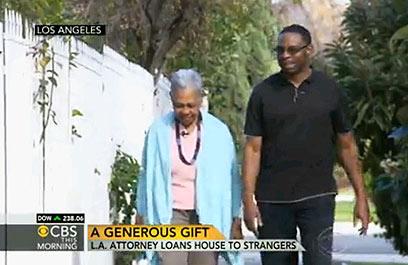 """""""אתה משוגע"""". טולברט ואמו מארי (צילום: CBS News) (צילום: CBS News)"""