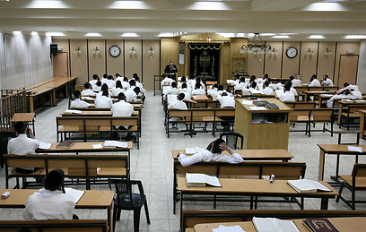 A classroom of yeshiva scholars (Photo: Amit Shaabi)